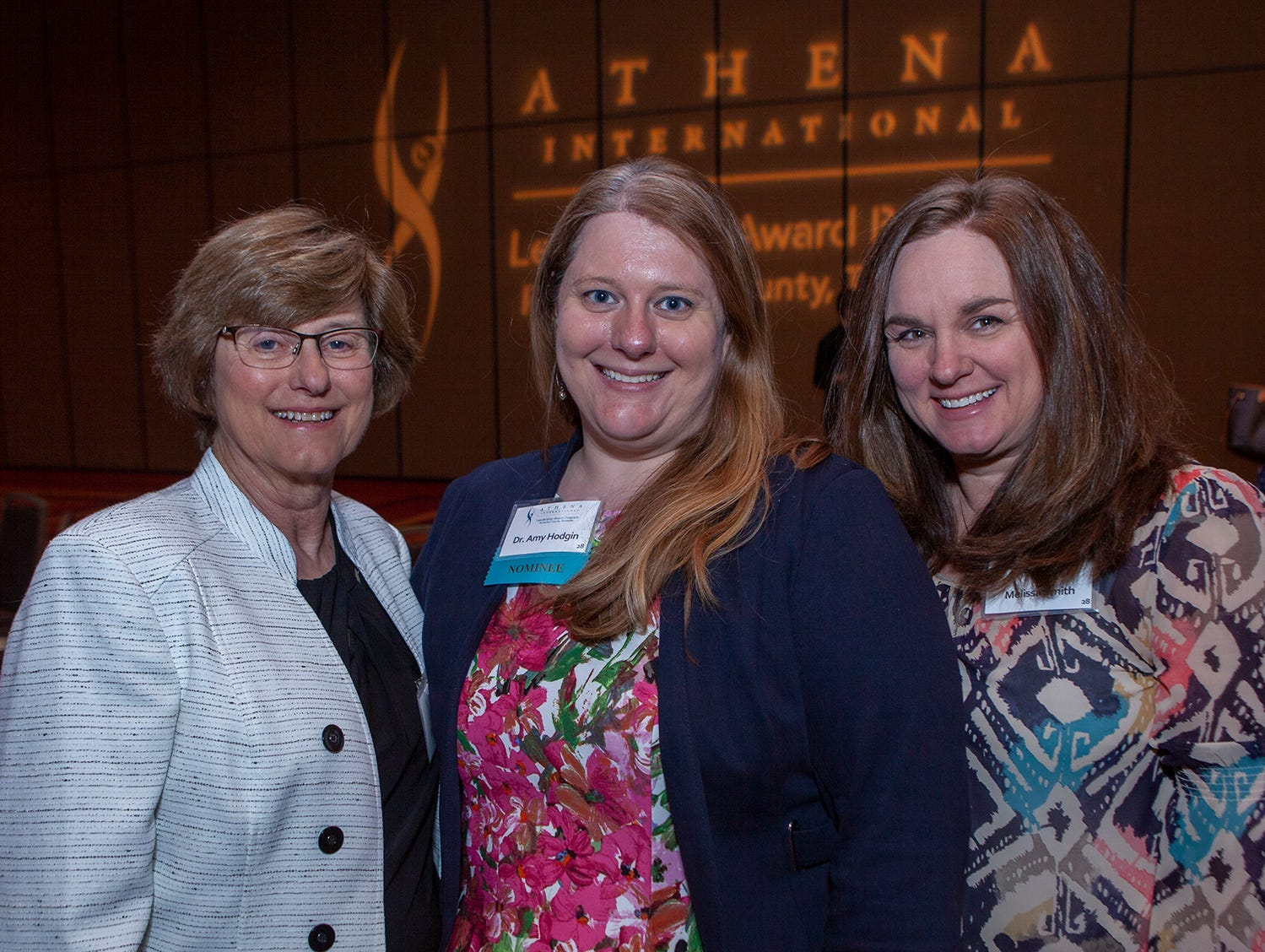Betty Hodgin, Dr. Amy Hodgin and Melissa Smith at the annual ATHENA Leadership Awards. Hosted by Rutherford Cable, ceremony was held Friday, April 12, 2019 at Embassy Suites Murfreesboro.