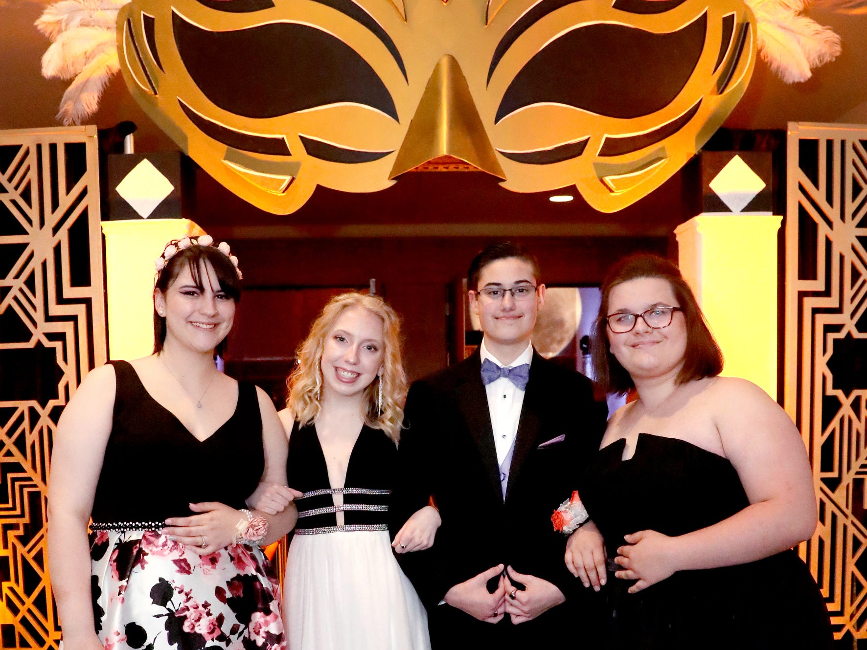 (Left to Right) Ivy Crim, Kylie Turner, Abigail Harshbarger and Melanie Fultz at Blackman's prom on Friday April 12, 2019, at MTSU.