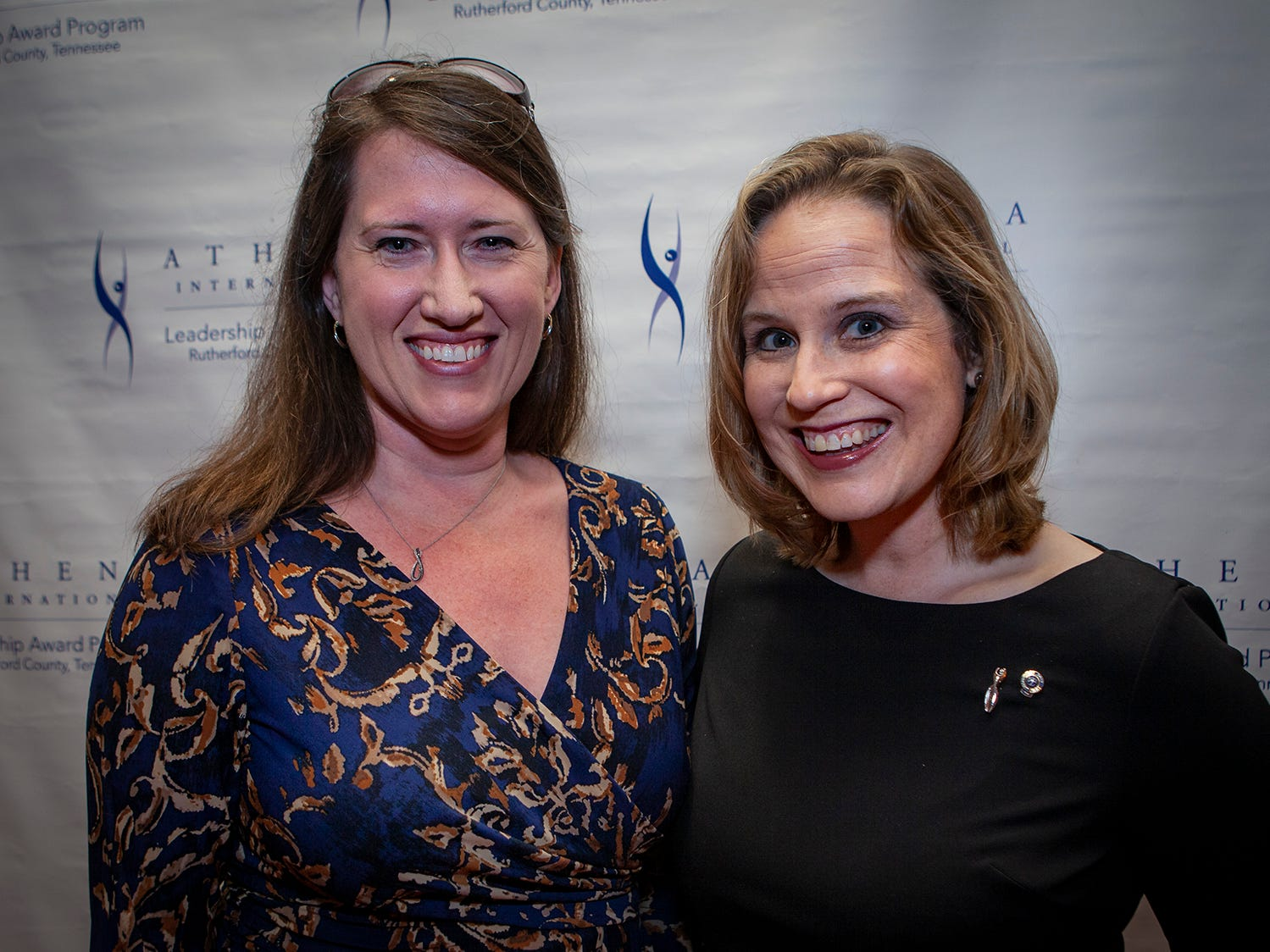Christy Siegler and Becky Lanham at the annual ATHENA Leadership Awards hosted by Rutherford Cable, Friday, April 12, 2019 at Embassy Suites Murfreesboro.