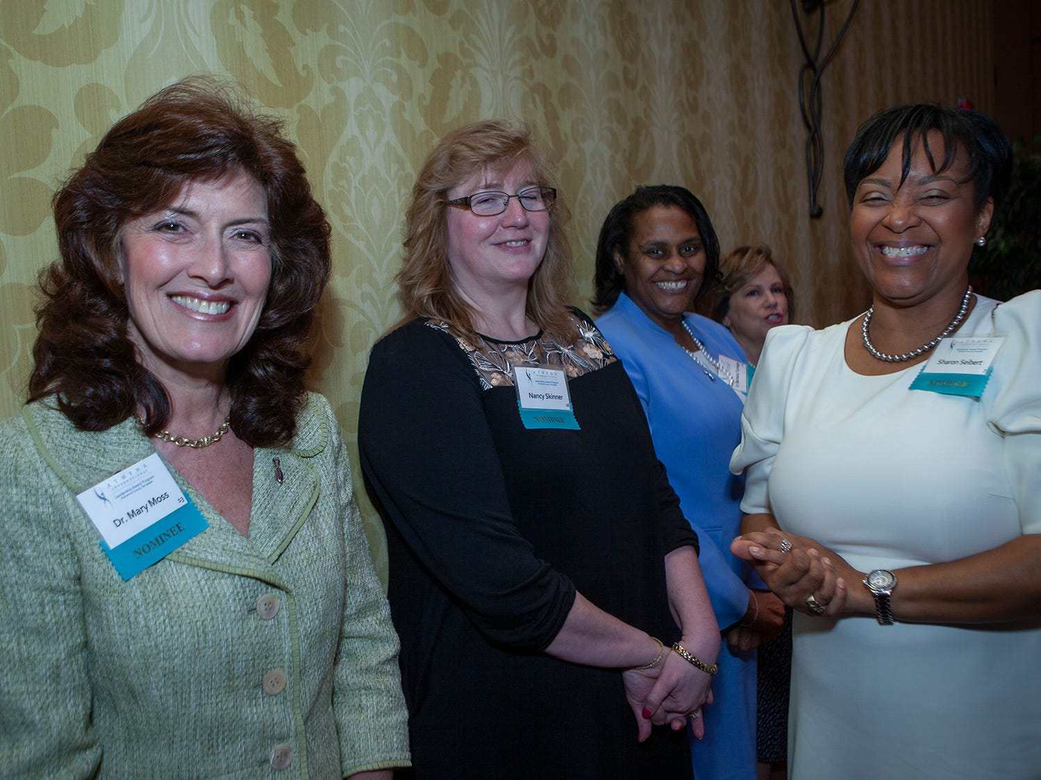 Nominees for the 2019 ATHENA Leadership Awards wait backstage before being introduced. Hosted by Rutherford Cable, the event was held Friday, April 12, 2019 at Embassy Suites Murfreesboro.