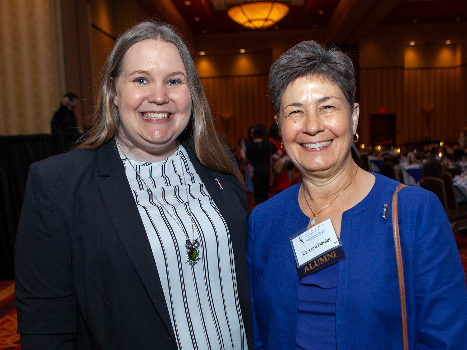 Kim Page and Lara Daniel at the  annual ATHENA Leadership Awards, hosted by Rutherford Cable Friday, April 12, 2019 at Embassy Suites Murfreesboro.