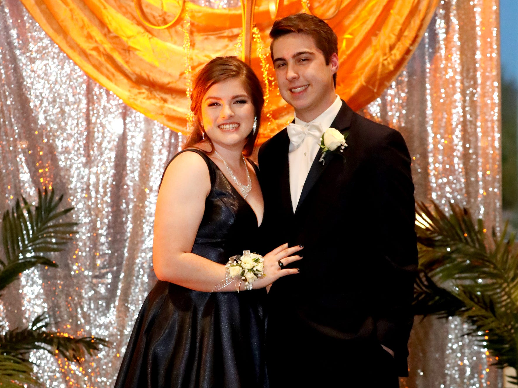 Bailey Eshleman, left and Garrett Cole, right at Blackman's prom on Friday April 12, 2019, at MTSU.
