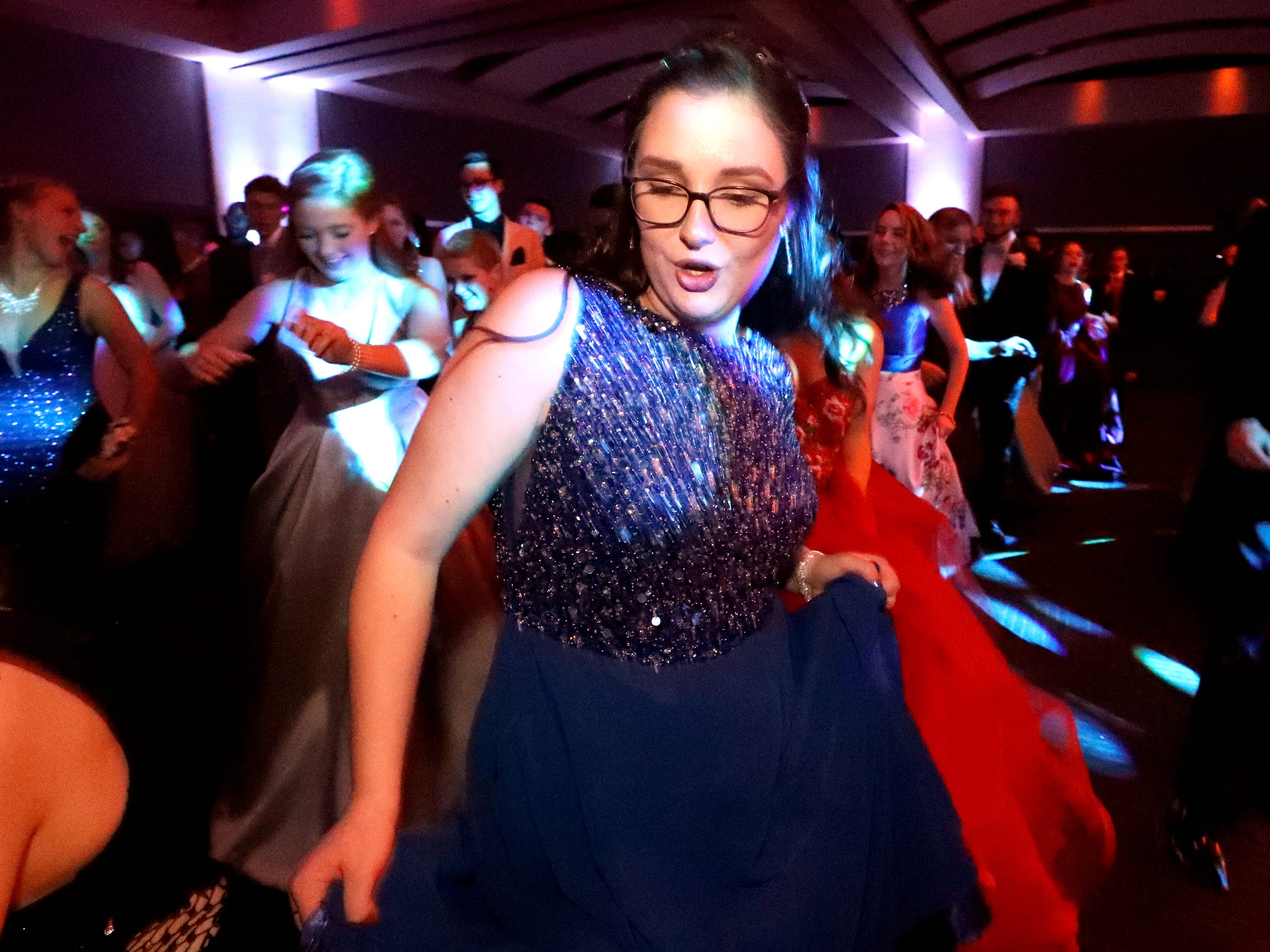 Julia Neal dances at Blackman's prom on Friday April 12, 2019, at MTSU.