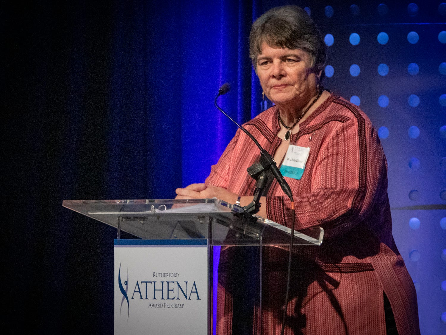 Murfreesboro City Schools Director Linda Gilbert received the 2019 ATHENA Leadership Award from Rutherford Cable Friday, April 12, 2019 at Embassy Suites Murfreesboro.