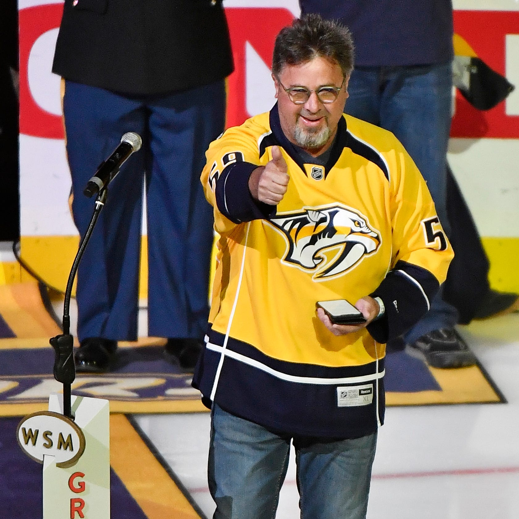 Predators anthem singer: Vince Gill performs before Game 2 against the Stars on Saturday