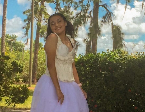 Immokalee held a fashion show with dresses maded from repurposed items.