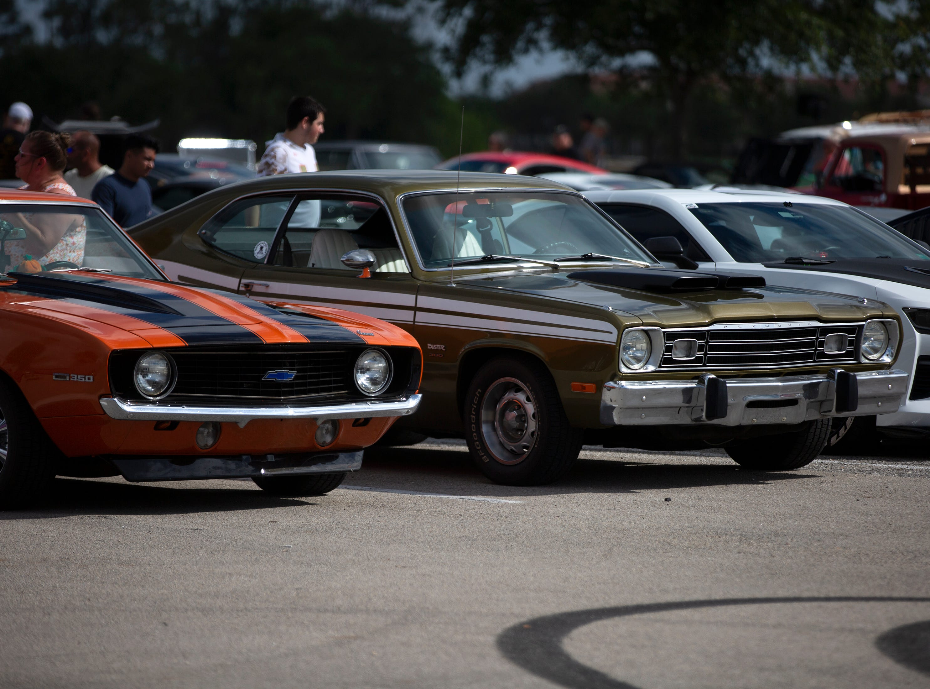 Cars are displayed in a parking lot at the Miromar Outlets during the Cruis'n for a Cause event on Saturday, April 13, 2019 in Estero.