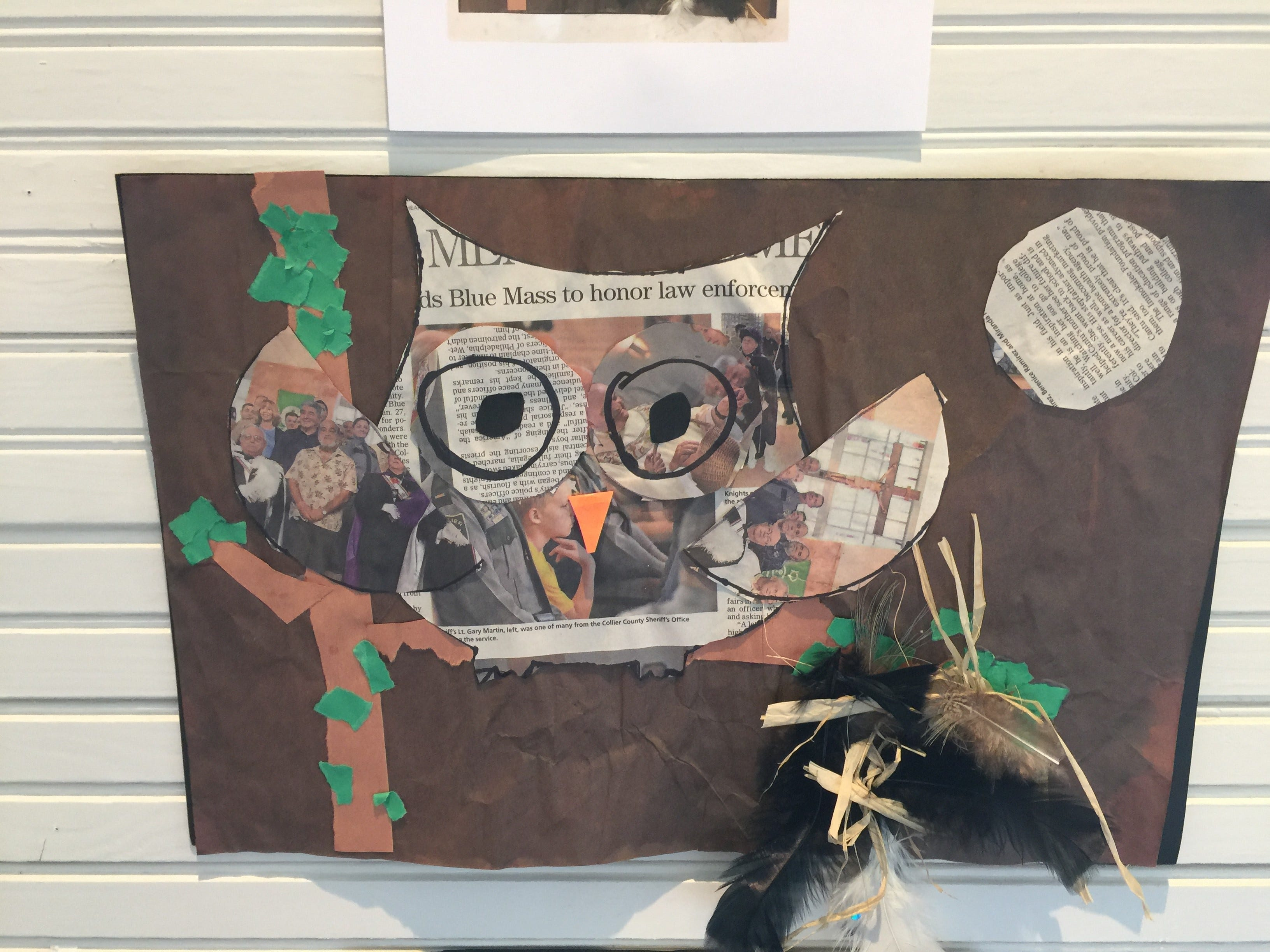 Art created from recycled objects like this were honored with awards at Immokalee Earth Day festivities, held April 13 at Roberts Ranch.