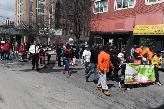 Paterson Peace March on Dr. Martin Luther King Jr. Way on Saturday, April 13, 2019.