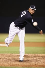 New York Yankees relief pitcher Dellin Betances will be out for six to seven weeks, GM Brian Cashman said Friday night, April 12, 2019.