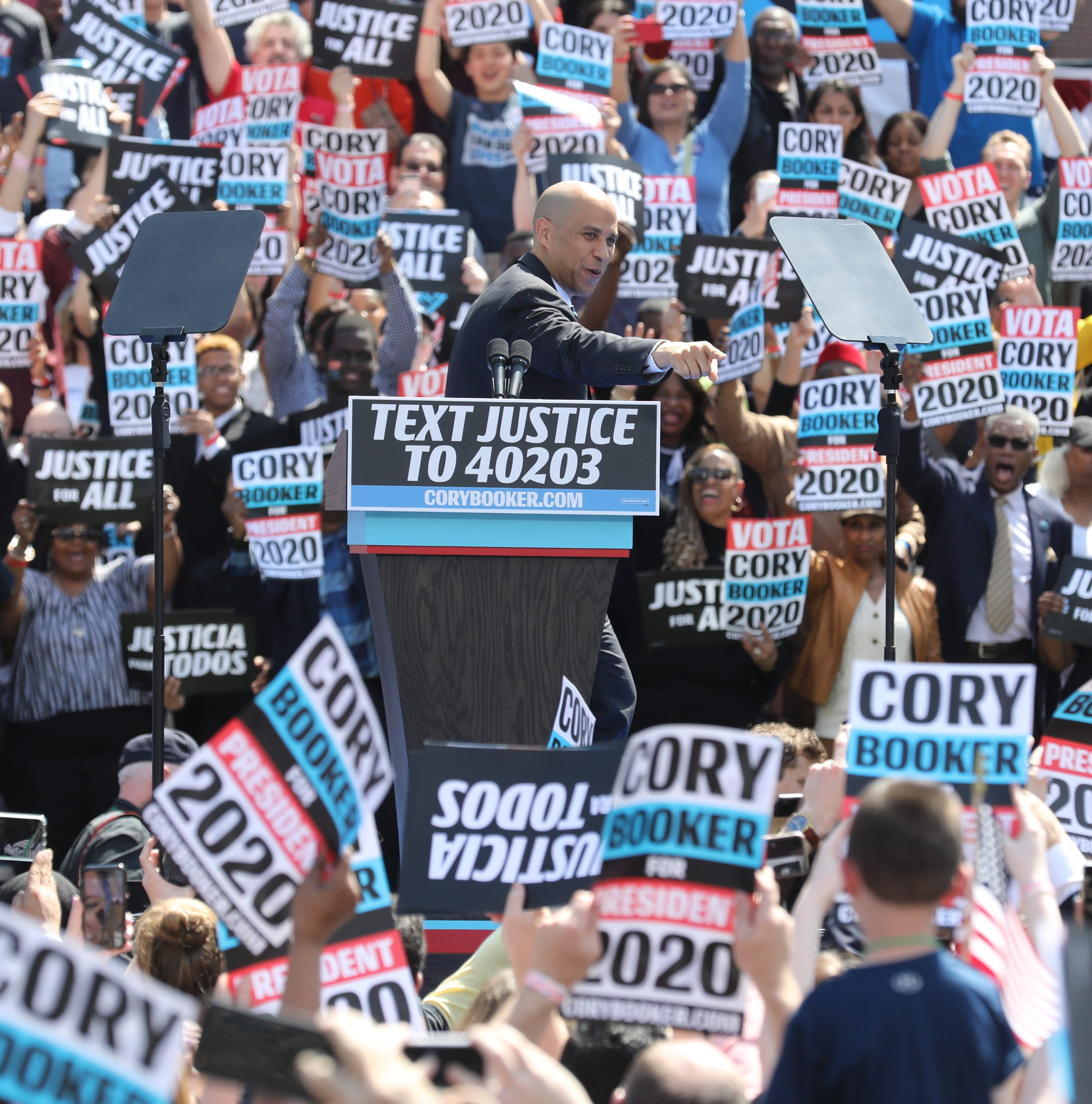 Cory Booker 2020 national campaign kicks off in Newark highlighting social justice mission