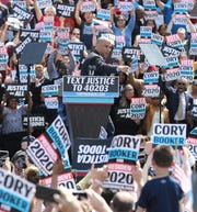 Senator and presidential candidate Cory Booker is introduced at a rally to kick off the Cory Booker campaign for president that was held at Military Park in Newark on April 13, 2019.