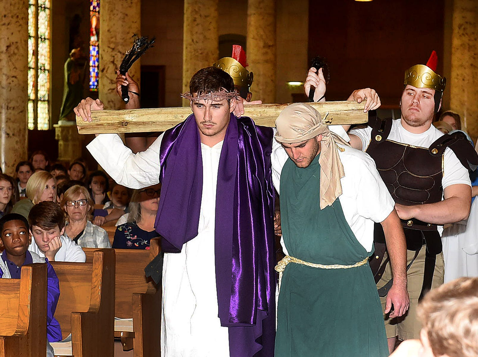 The Opelousas Catholic senior class performed their annual Passion of Christ play Friday at St. Landry Catholic Church.