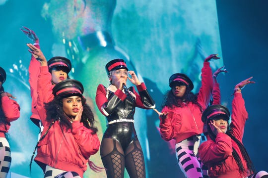 Janelle Monáe performs at Coachella Valley Music and Arts Festival on Friday, April 19, 2019 in Indio, Calif.