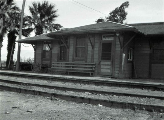 The Garnet station of the Southern Pacific Railroad.
