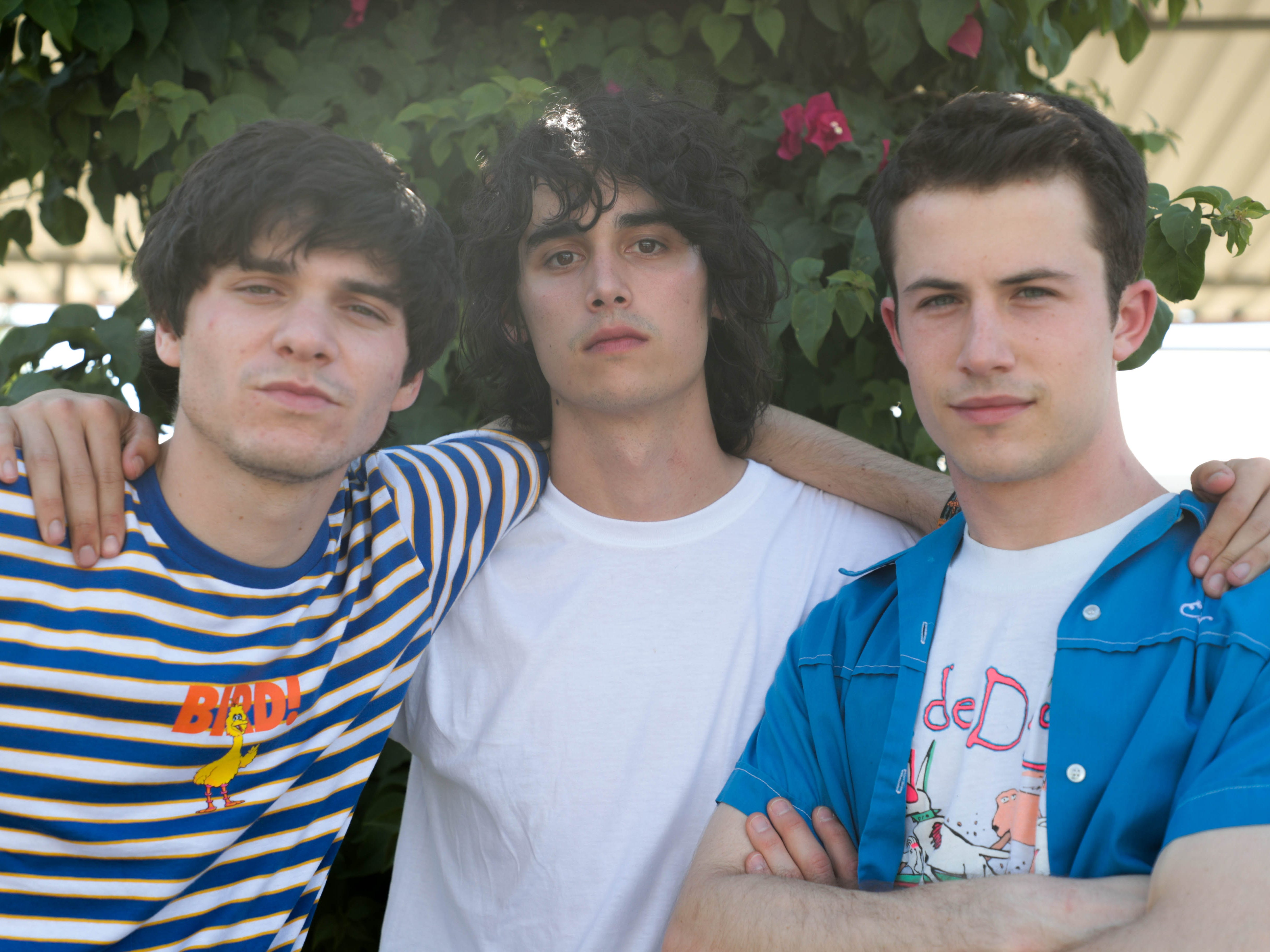 Wallows pose for a photo on Saturday, April 13, 2019 at Coachella Valley Music and Arts Festival in Indio, Calif.