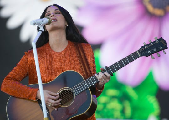 Kacey Musgraves performs at the Coachella Valley Music and Arts Festival in Indio, Calif. on Friday, April 12, 2019.