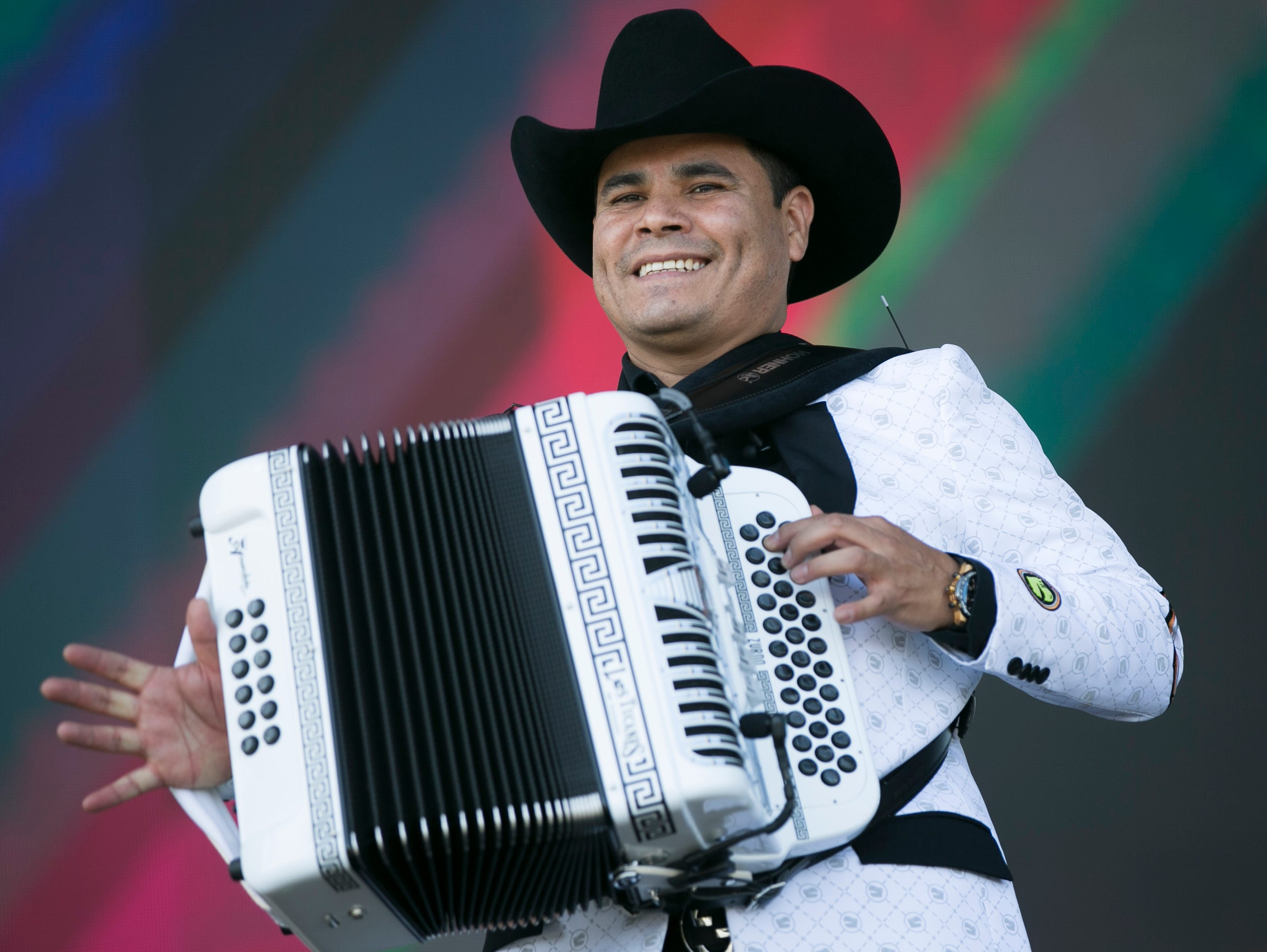Los Tucanes de Tijuana perform on the main stage at the Coachella Valley Music and Arts Festival in Indio, Calif. on Fri. April 12, 2019.