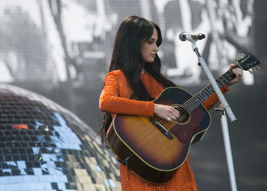 Kacey Musgraves performs at the Coachella Valley Music and Arts Festival in Indio, Calif. on Fri. April 12, 2019.