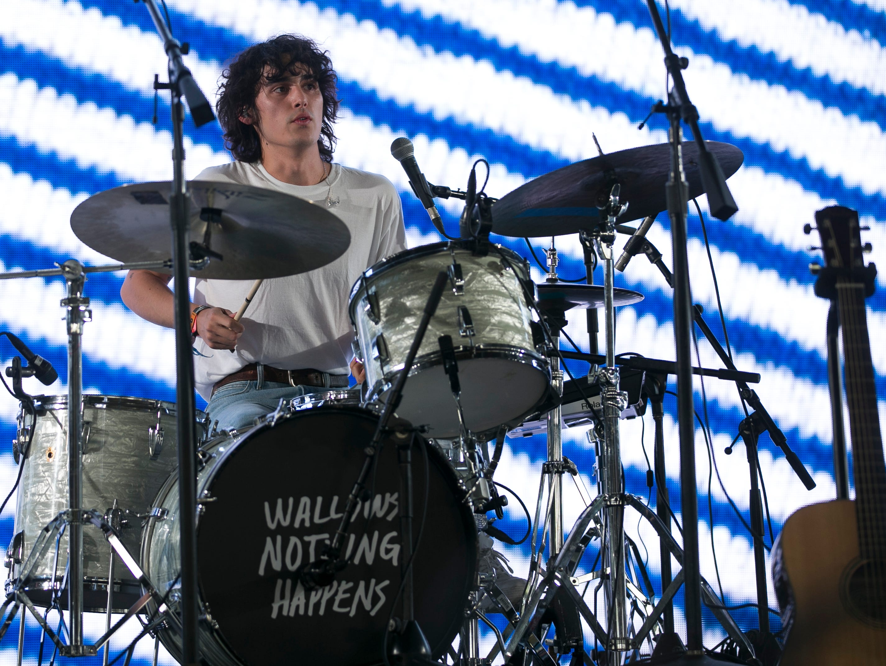 Wallows perform on stage Mojave at Coachella 2019 in Indio, Calif. on Sat. April 13, 2019.