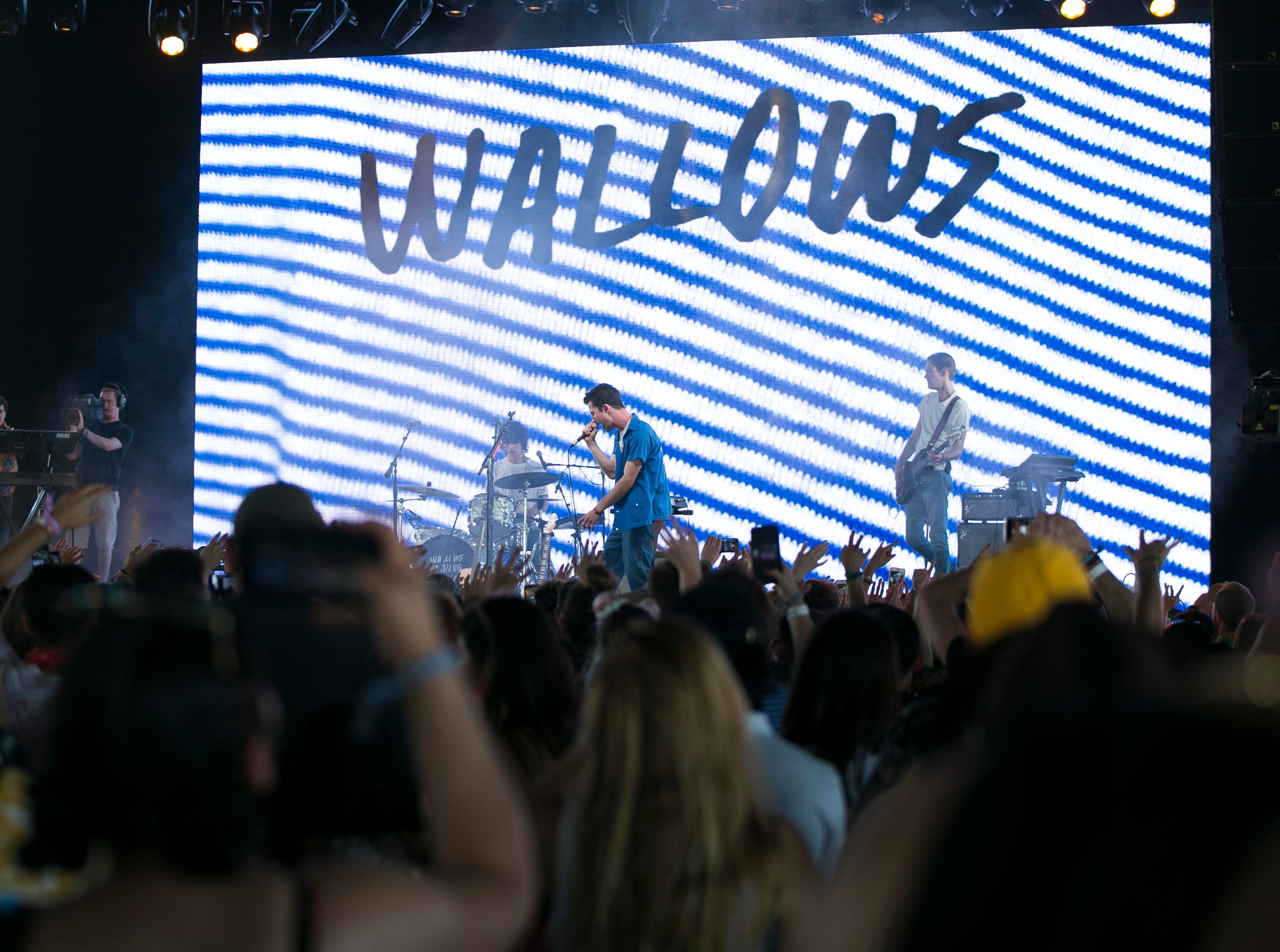 Wallows perform at the Coachella Valley Music and Arts Festival in Indio, Calif., on Saturday, April 13, 2019.