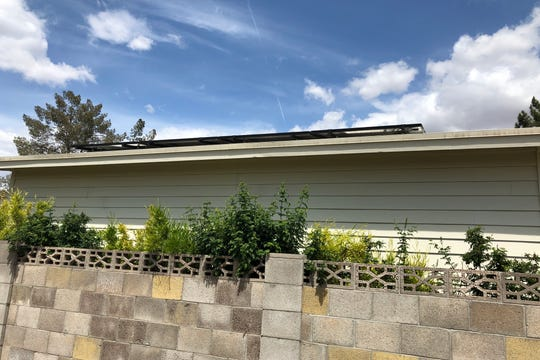 The net-zero energy addition utilizes 18 solar panels on its roof. The main house, which is near-zero energy, has a 40 solar panels on its roof.