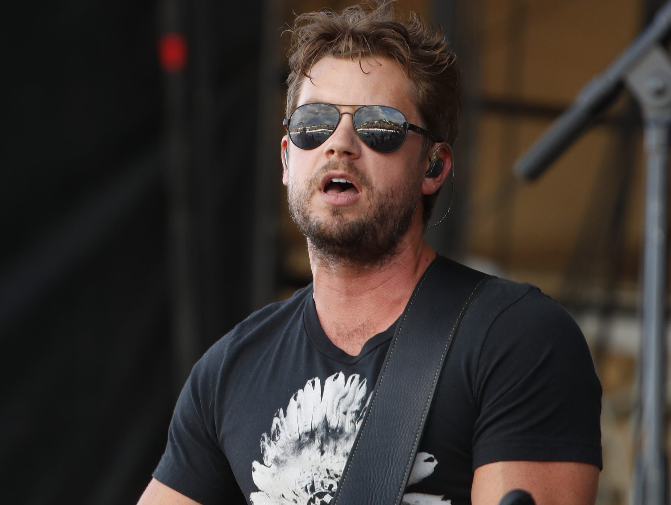 Country musician Brandon Lay performs on the Main Stage during Country Thunder in Florence, Ariz. on Friday, April 12, 2019.