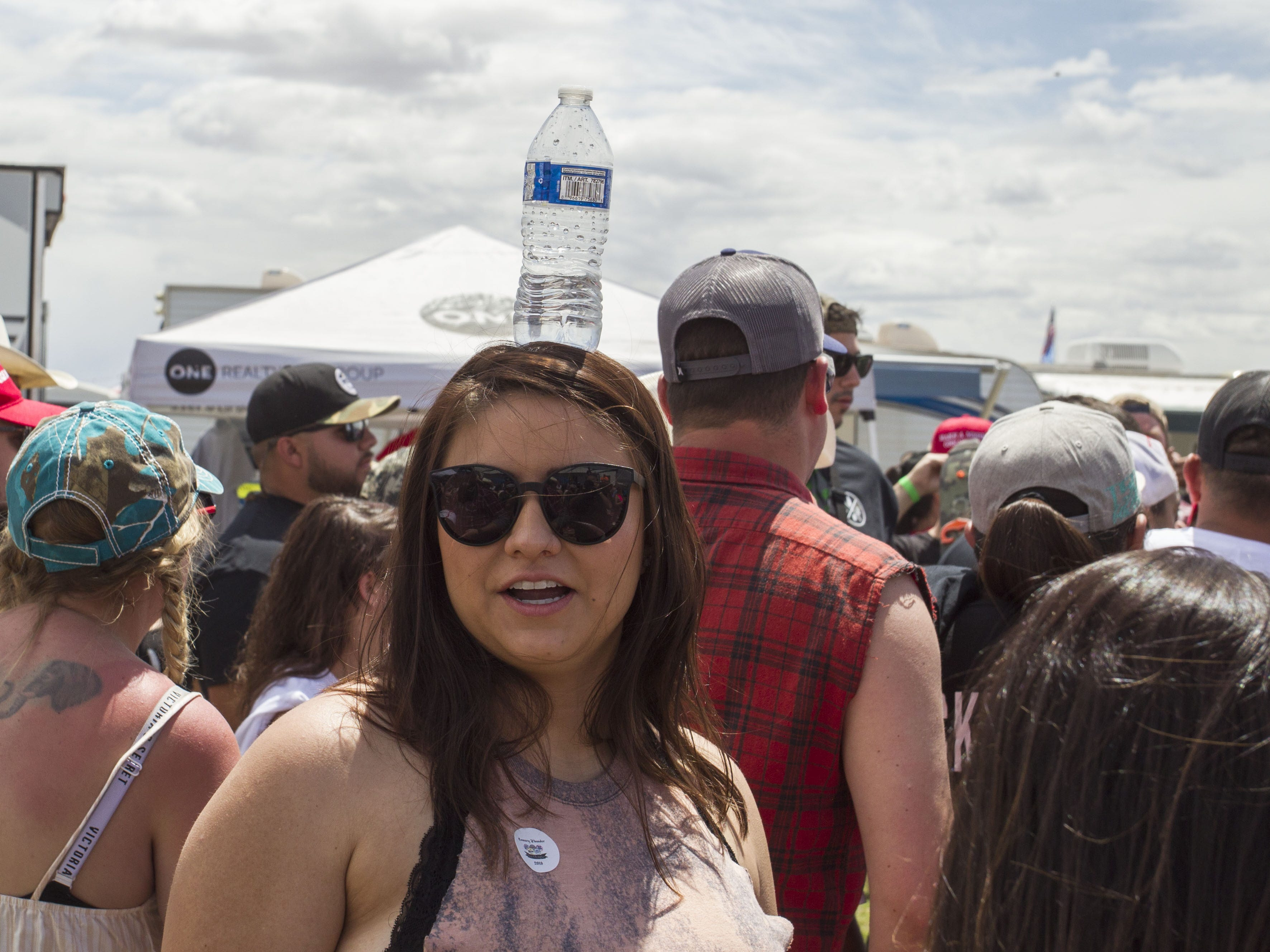 Festival-goers gather at Country Thunder Arizona Friday, April 12, 2019, in Florence, Arizona.