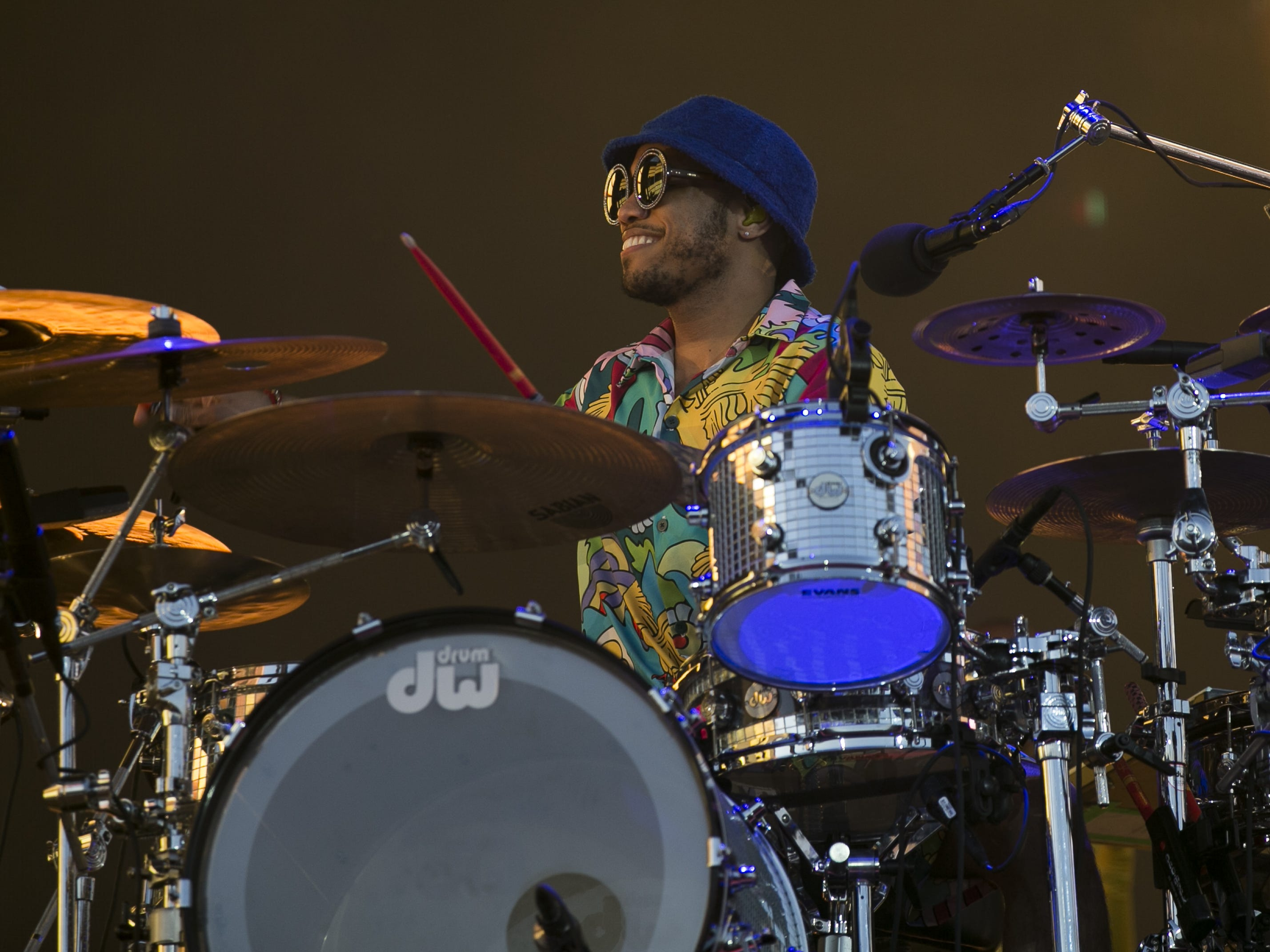 Anderson .Paak and The Free Nationals perform on stage at the Coachella Valley Music and Arts Festival in Indio, Calif. on April 12, 2019.