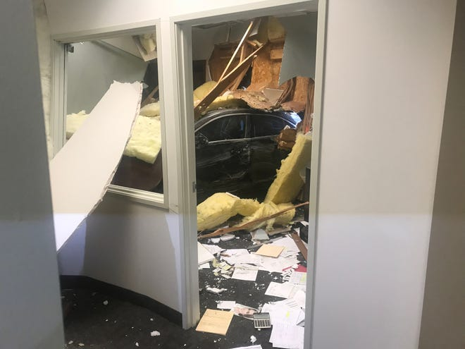 Car crashes through doctor's office wall in Paradise Valley on Friday, April 12, 2019.