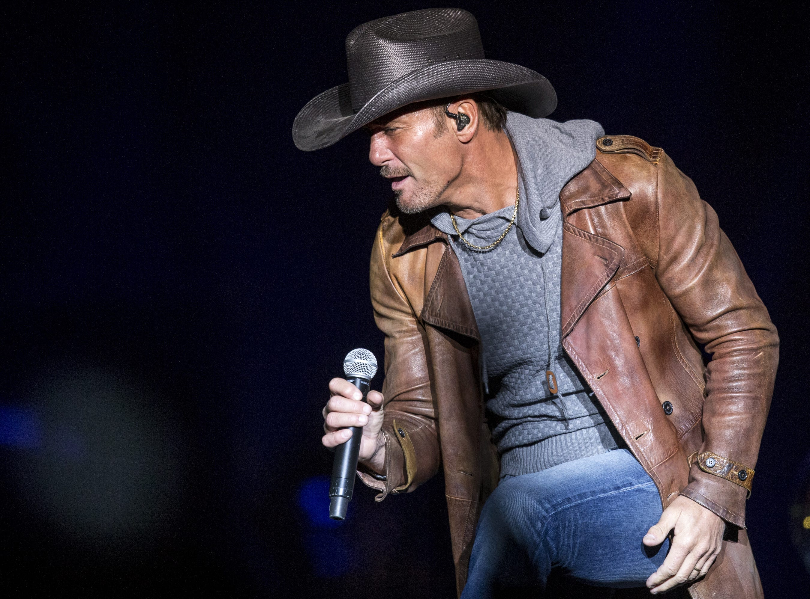 Tim McGraw performs on Friday, April 12, 2019, during Day 2 of Country Thunder Arizona in Florence, Ariz.