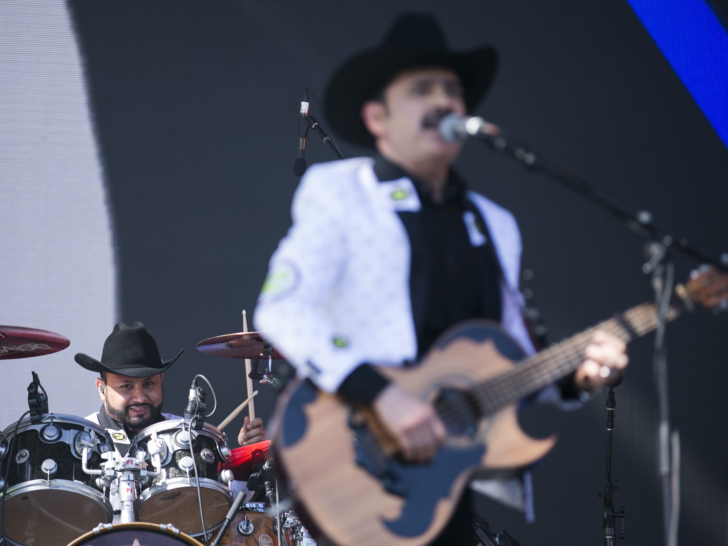 Los Tucanes de Tijuana perform on the main stage at the Coachella Valley Music and Arts Festival in Indio, Calif. on April 12, 2019.