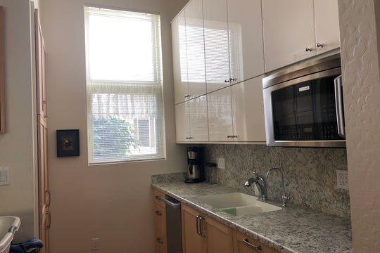 The kitchen in the addition comes with good counter space, a microwave convection oven, and dishwasher.