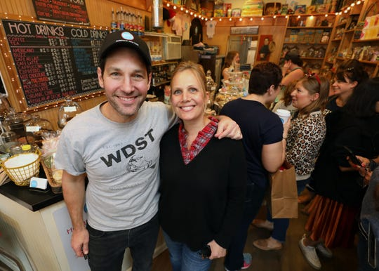 Co-owners Julie and Paul Rudd, are pictured at Samuel's Sweet Shop in Rhinebeck, April 13, 2019. The shop is celebrating it's 25th anniversary this month.