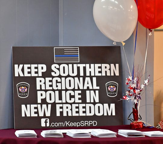 Community members gather to meet candidates in New Freedom, Saturday, April 13, 2019. Dawn J. Sagert photo