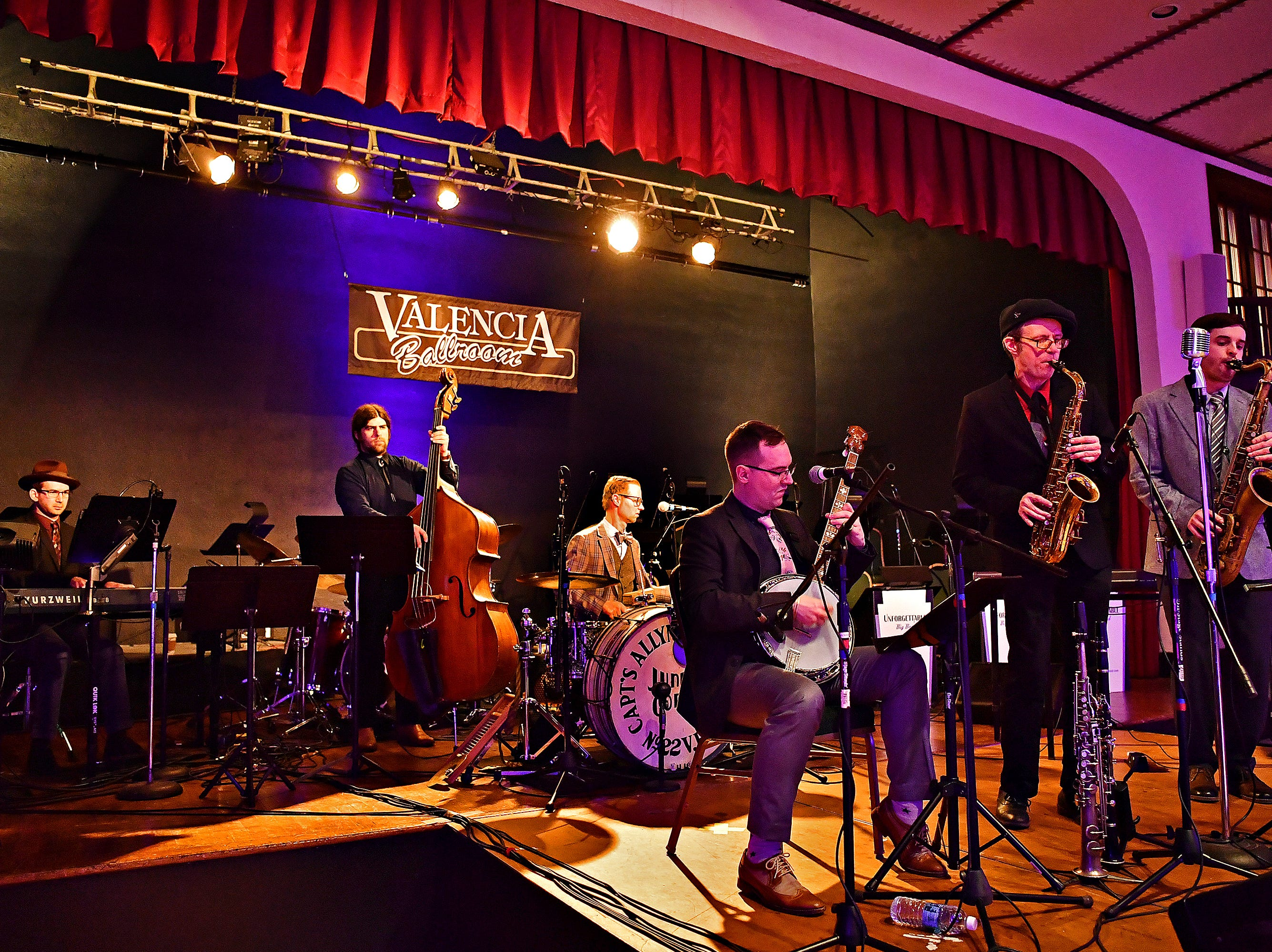 Parlour Noir performs during Big Swing Thing III Premiere Swing Music & Dance Festival at Valencia Ballroom in York City, Friday, April 12, 2019. Dawn J. Sagert photo