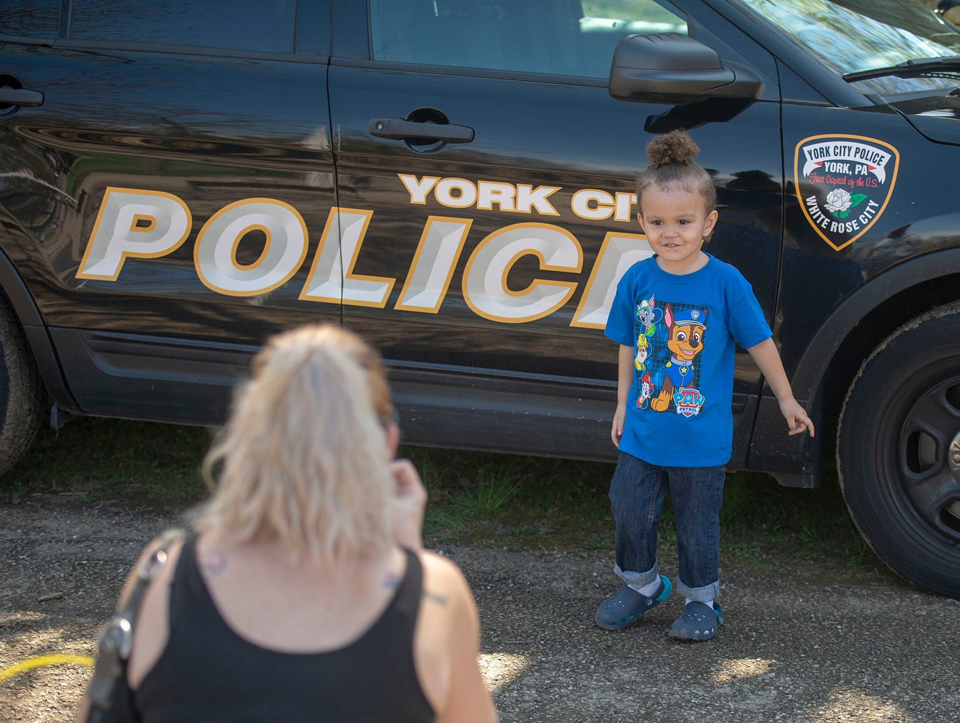 Saturday's Easter egg hunt at Kiwanis Lake was the perfect chance to get a photo taken with a York City Police car.