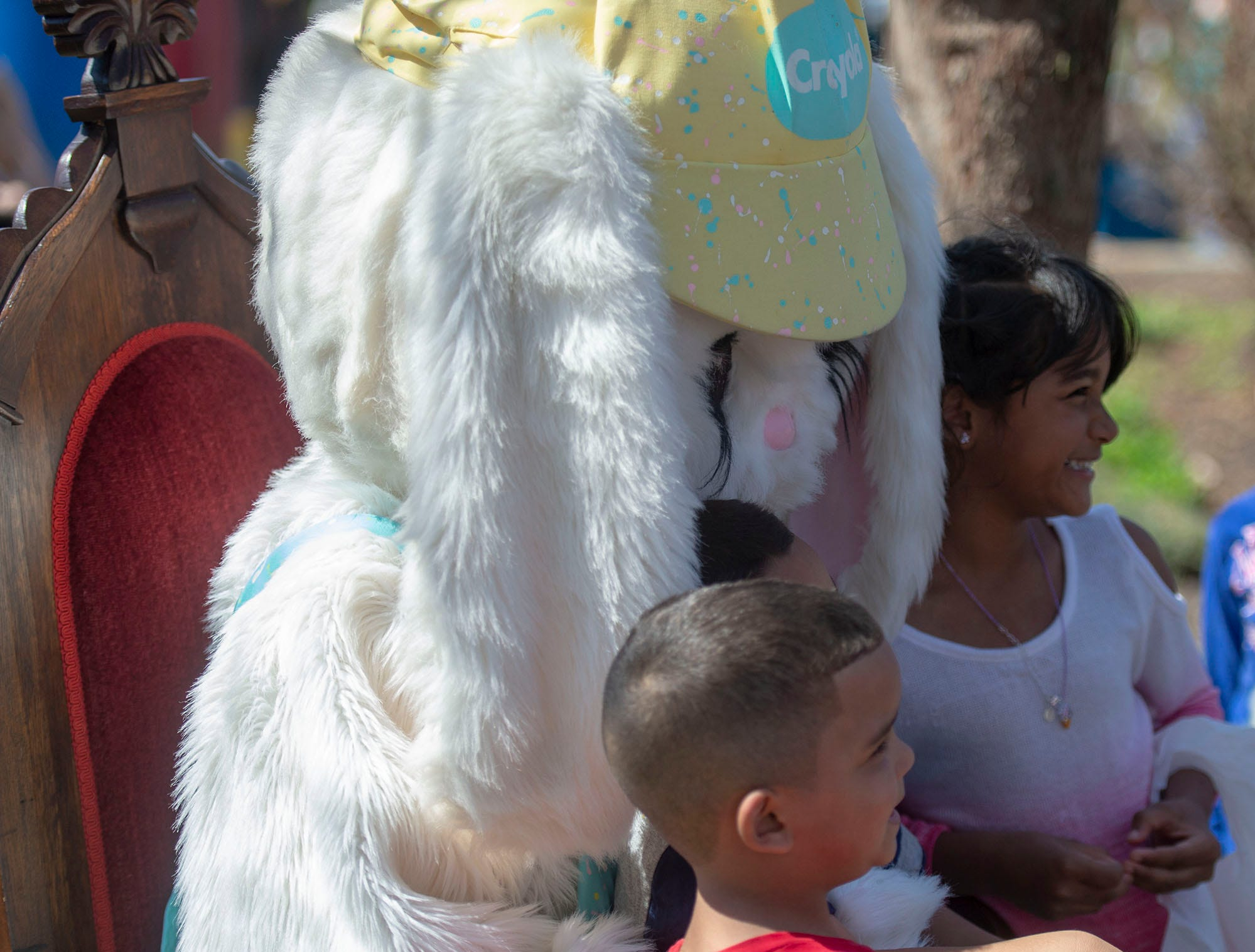 The Easter Bunny was a popular attraction at the City of York's Easter Egg Hunt Saturday, April 13, 2019 at Kiwanis Lake.