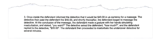 """When an undercover detective with the Lancaster County Drug Task Force investigated a massage parlor on Feb. 21 in New Holland, a woman masturbated him for """"several minutes"""" before law enforcement arrested her on prostitution charges, according to an affidavit of probable cause."""