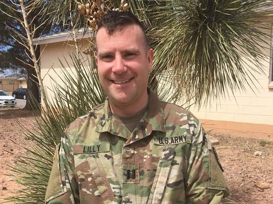 Pittsford Nordic ski coach Brian Lilly is serving a year's deployment in medical services unit at Fort Bliss, Texas.
