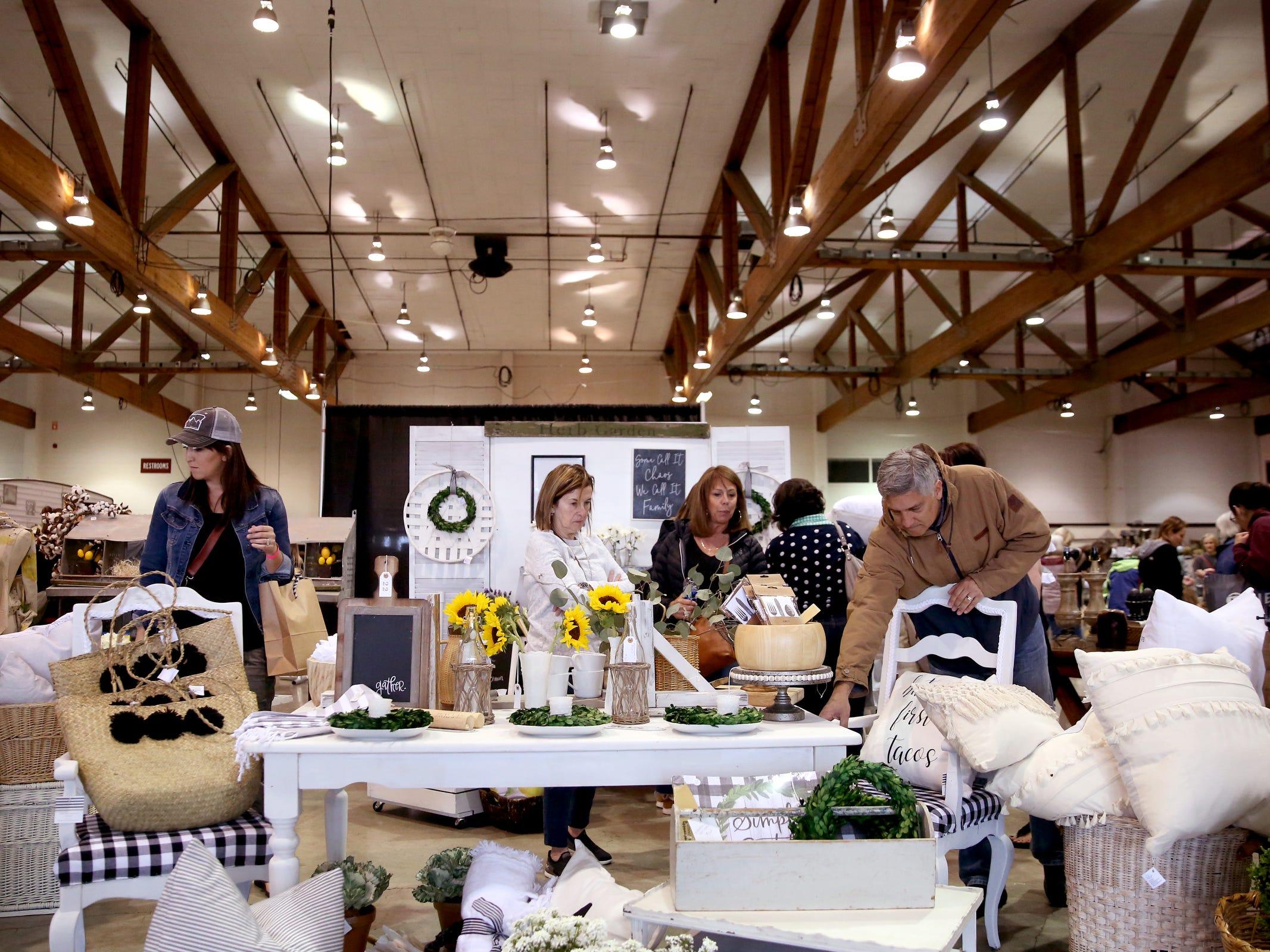 Hundreds attend The Great Junk Hunt, a traveling vintage market, at the Oregon State Fairgrounds in Salem on April 13, 2019.
