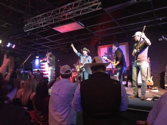 Kyle Park thanks the crowd after his performance at The Concho Palace, 2581 Sunset Drive, on Friday, April 12, 2019.