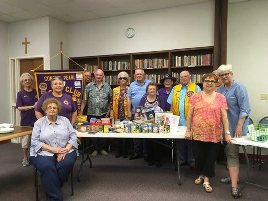 On April 8, members of the Concho Pearl Lions Club donated food items for Easter Baskets of Blessings to be distributed by Project Dignidad.  Since 1976, Project Dignidad of San Angelo has provided food to individuals and families in emergency situations.