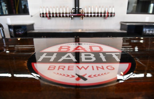 The serving area at the new Bad Habit Brewing Company location Saturday, April 13, in St. Joseph.
