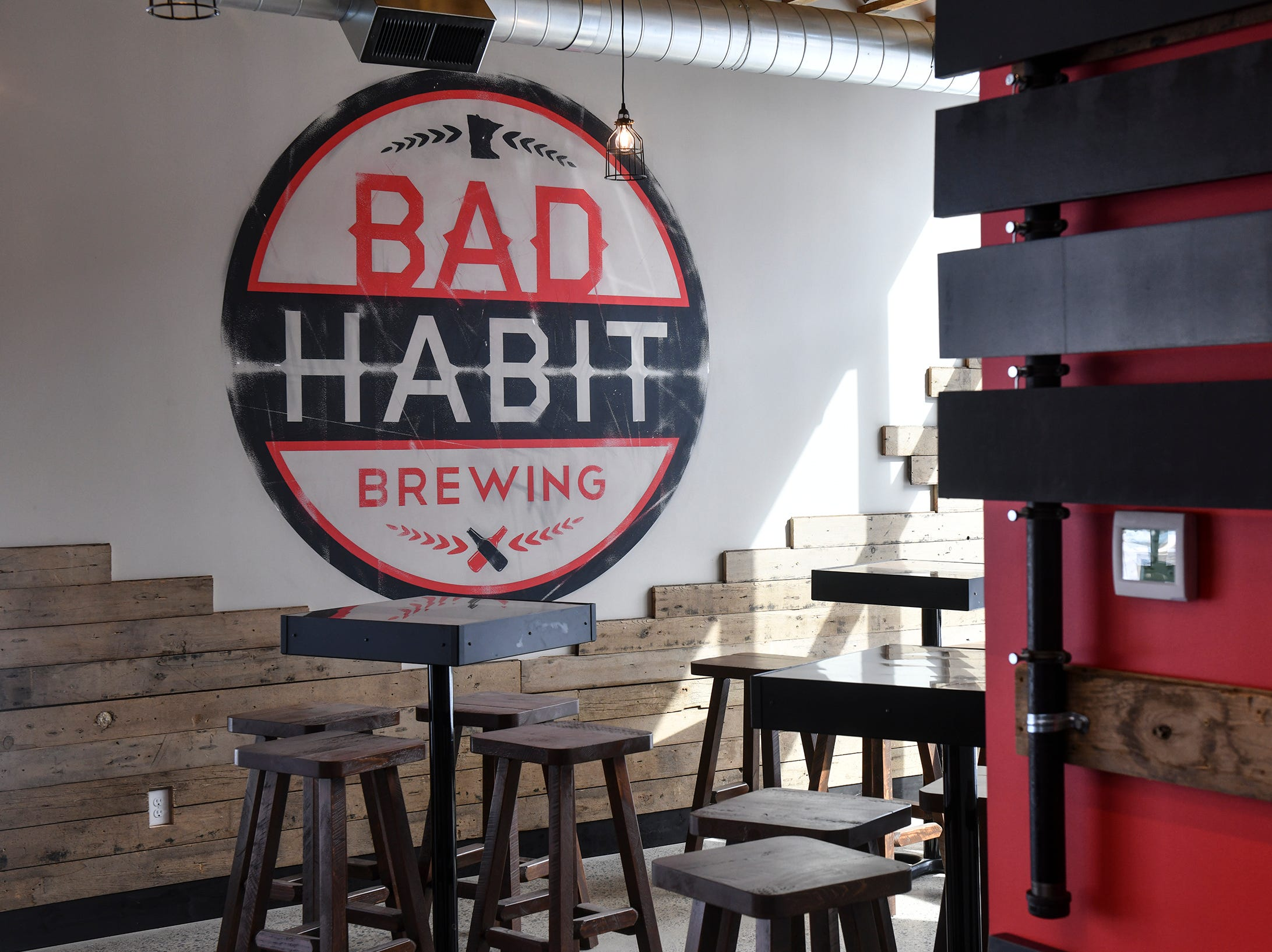 A portion of the new taproom space at Bad Habit Brewing Company is pictured Saturday, April 13, in St. Joseph