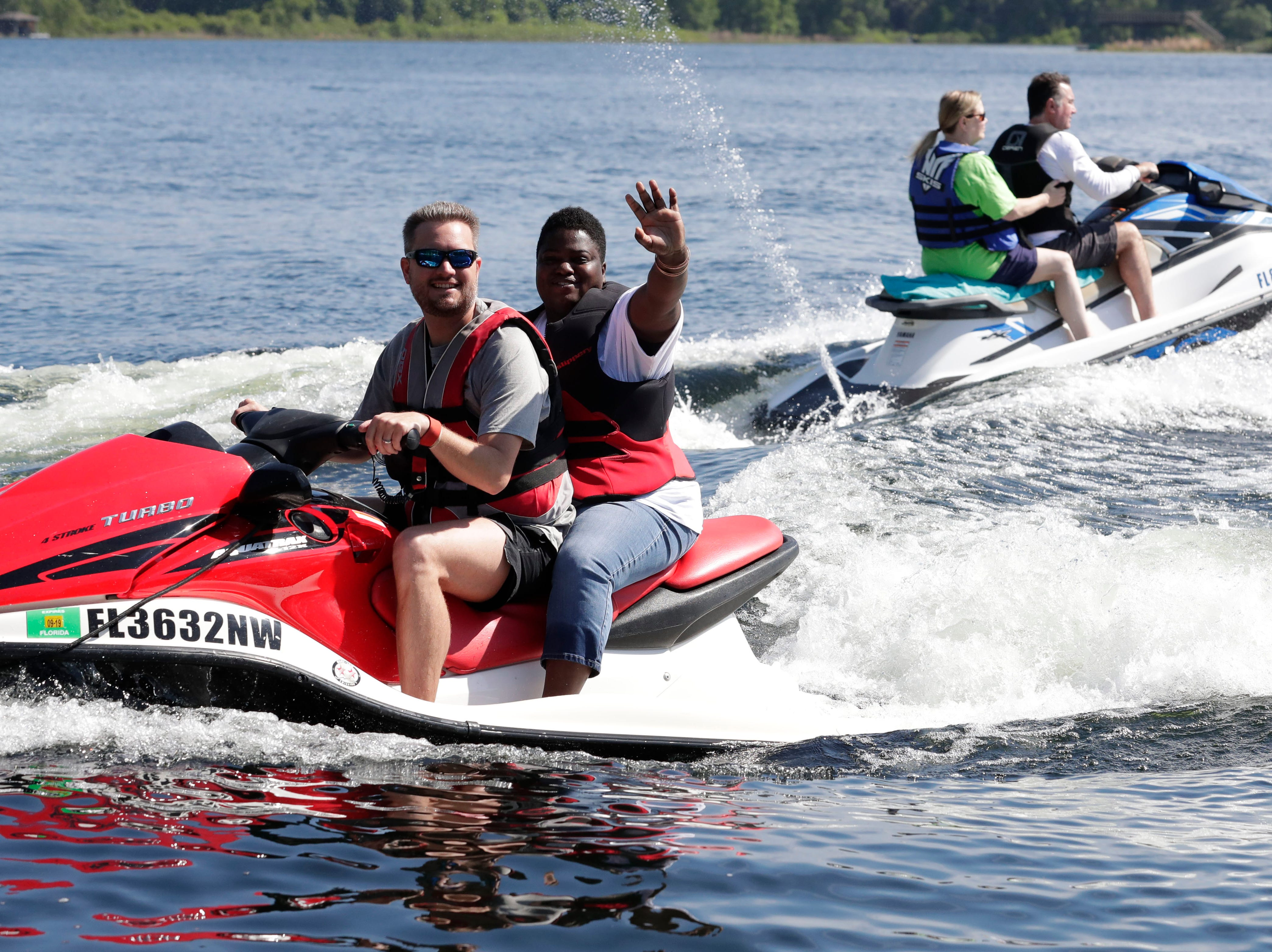 Participants had the opportunity to jet ski during SportsAbility, a program with the Florida Disabled Outdoors Association, at Maclay Garden State Park Saturday,  April 13, 2019.