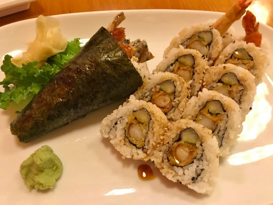 The crunchy, crispy salmon skin, and cool rice combined in the nori roll was luscious and delicious