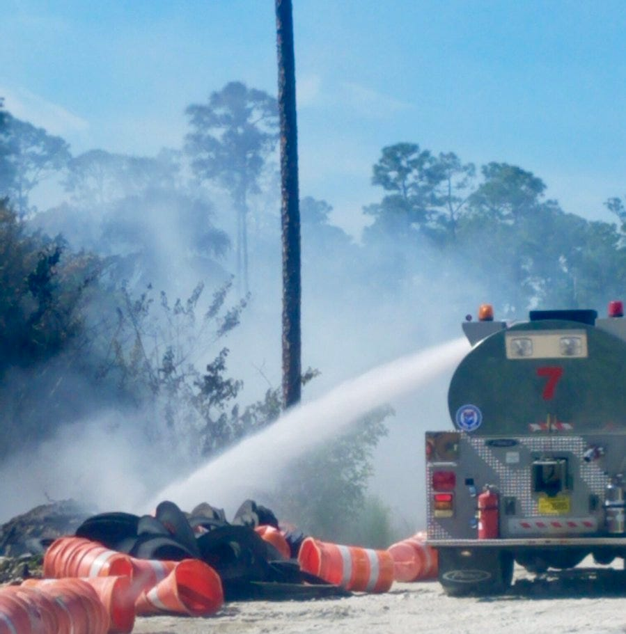 Wildfire threatened several homes in Fort Pierce Saturday