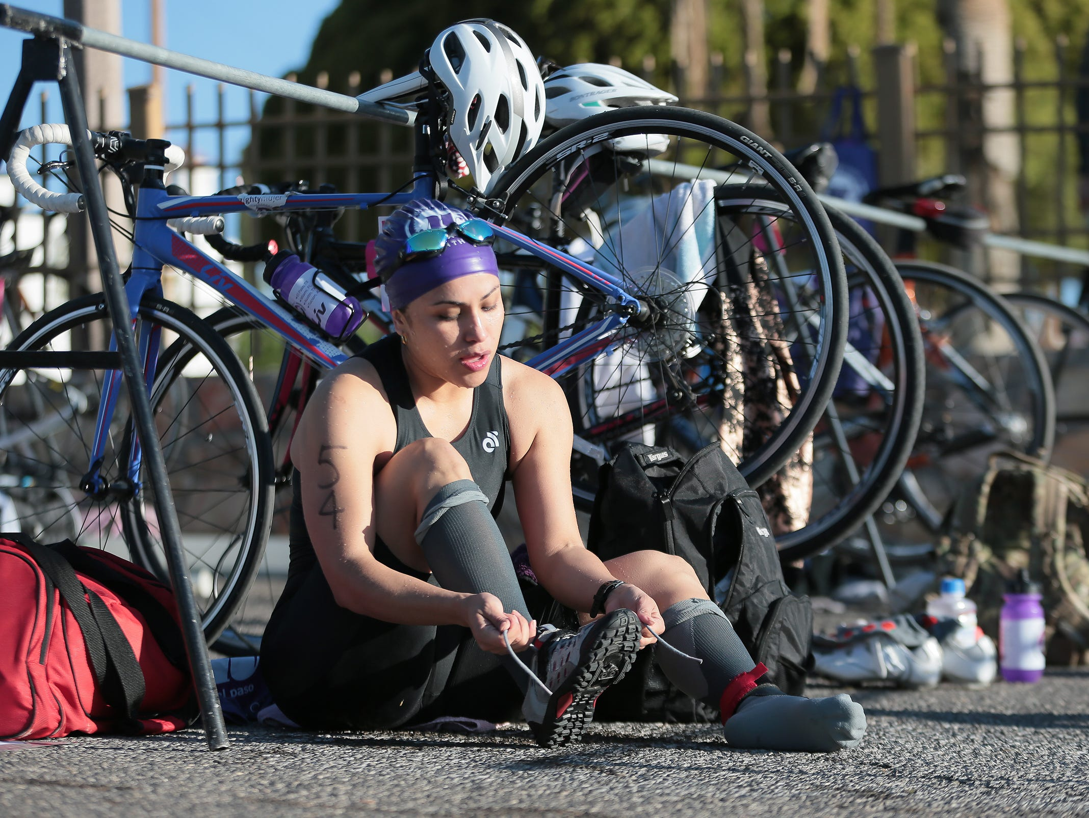 Over 400 athletes competed in the 2019 Mighty Mujer Triathlon Saturday morning at Memorial Park Pool.