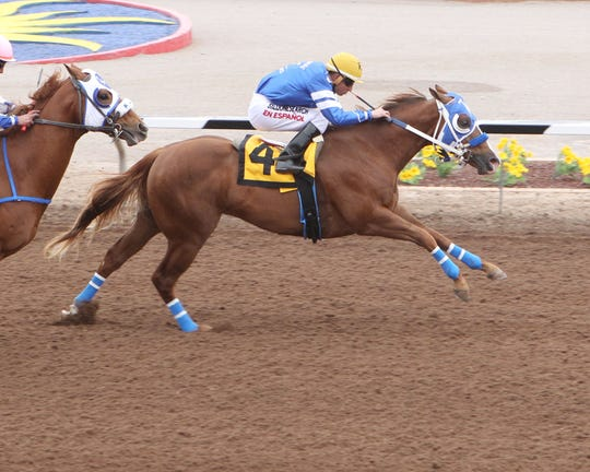 One Corona Eagle was the fastest qualifier for the West Texas Futurity on Friday at Sunland Park Racetrack & Casino.